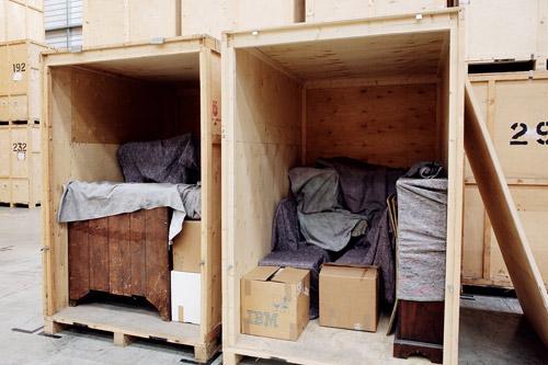 A loaded self storage box